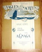 Vagues Nacrées Valse Lente Pour Piano Par  Gnaga Partition Musicale Maison Binetti - Grand Format - Illustration - Partitions Musicales Anciennes