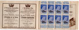 XIIIe Campagne Contre La Tuberculose - 1919 / 1939  20e Anniversaire Loi Sanatoriums - Carnet Banania 8 Timbres - Erinnophilie