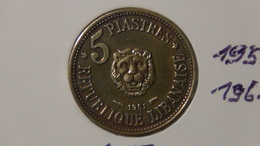 Lebanon - 1961 - 5 Piastres - KM 21 - VF - Libanon