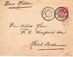 1900 Grootrond HAARLEM Op Envelop G8a  Naar Den Helder - Ganzsachen