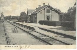 DALSKOG - Station - Cachet De La Poste 1918 - Suède