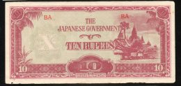 Banconota Myanmar (Burma) 10 Rupee 1942/44 - Myanmar