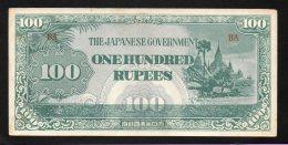 Banconota Myanmar (Burma) 100 Rupee 1944 - Myanmar