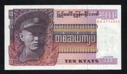 Banconota Myanmar (Burma) 10 Kiats 1973 FDS - Myanmar