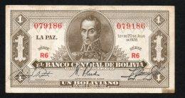 Banconota Bolivia 1 Boliviano 1928 - Bolivia