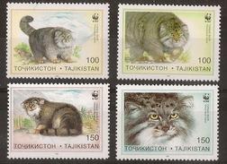 TAJIKISTAN WWF, 1996 Cats - W.W.F.