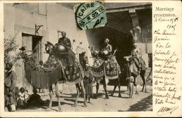 EGYPTE - Oblitération Du Caire Sur Carte Postale ( Mariage ) En 1905 Pour L 'Algérie - A Voir - L 6054 - Égypte