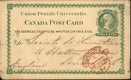 CANADA - Entier Postal De Montréal Pour Londres En 1892 - A Voir - L 6055 - 1860-1899 Regering Van Victoria