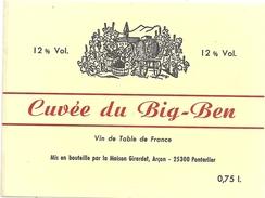 CUVEE DU BIG-BEN .. 12°  ..  0.75cl  .. - Etiquettes