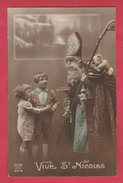 Vive St-Nicolas / Sint Niklaas/ Santa Claus ... Enfants ... Jouets , Peluche  -1920 ( Voir Verso ) - Saint-Nicolas