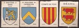 FRANCE, Vignettes X 4 (Capbreton, Bearn...) - Unclassified