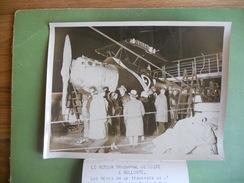 PHOTO ORIGINALE RETOUR COSTES ET BELLONTE AVION POINT D INTERROGATION DESCENDU DU FRANCE AU HAVRE - Aviation