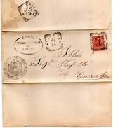 1904  LETTERA CON ANNULLO LIBERI CASERTA - Storia Postale