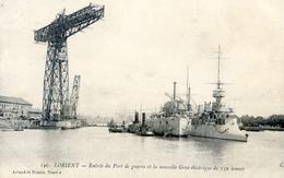56 - Lorient - Entrée Du Port De Guerre Et La Nouvelle Grue Electrique De 150 Tonnes - Lorient