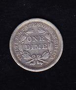 USA KR CAT  KMA63.2 1856 XF+ Silver  (U28) - 1837-1891: Seated Liberty (Liberté Assise)