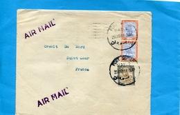 """Marcophilie-SOUDAN--LettreCommerciale """""""" >Françe Cad PORT SUDAN 1951-3-stamps - Soudan (1954-...)"""