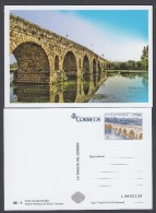 SPAIN ESPAGNE 2014  POSTAL STATIONERY. ROMAN BRIDGE OF EMERITA AUGUSTA MERIDA - Bridges