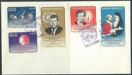 Paraguay  1964  Sc#828-32  JFK, Pope, Space On Unaddressed FDC - Paraguay