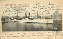 A-17-1357 :  LE PAQUEBOT TOURANE. MESSAGERIES MARITIMES - Dampfer