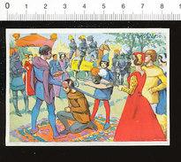 Image La Chevalerie Adoubement D'un Chevalier Dame épée Moyen-âge Histoire De France / IM 14/39 - Chromos