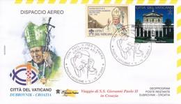 Vatikan, 2003, Viaggio Apostolico  Di S.S. Giovanni Paolo II  In Croazia, Mi: 1182  + ATM 2 - Vatican