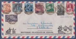 = Série 8 Timbres Espagne 1963 Sur Enveloppe - 1971-80 Used