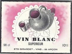 VIN BLANC SUPERIEUR ..98cl  ..  10° - Blancs