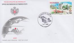 Enveloppe 1er Jour  FDC  MONACO      Grand  Prix  Automobile   2009 - Automobilismo