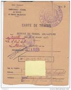 Gard Nîmes Carte De Travail Service Travail Obligatoire * Et Certificat De Recensement Etat Français Ml Pétain - 1939-45