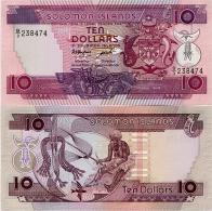 SOLOMON IS.        10 Dollars       P-15a       ND (1986)       UNC - Salomonseilanden