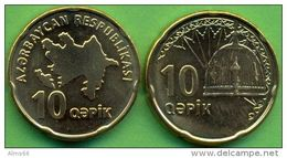 Azerbaijan 2006 (ND) 10 Qapik Coin KM#42 UNC / BU !!!