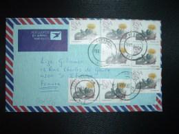 LETTRE Par AVION Pour La FRANCE TP CHEIRIDOPSIS PECULIARIS 25c X8 OBL.1991 04 22 PRETORIA - Afrique Du Sud (1961-...)