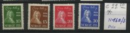 Norge  Yv. 160/163  Helberg *  Avec Charnière  Mit Falz  Cote 22,50 € - Noruega
