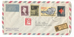 Austria Scott # 689, 752 756, 757, 758. Registered Cover Ganz To Glendale - 1945-.... 2nd Republic