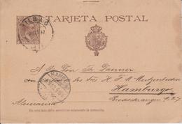 B17 Spanien Spain Espagne Ganzsache Stationery Entier Postal P 27II Von Bilbao Nach Hamburg - Stamped Stationery