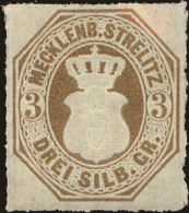 Mecklenburg-Strelitz Scott #6, 1864, Hinged - Mecklenburg-Strelitz