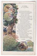Chromo  ARTICLES EN CAOUTCHOUC BERGOUGNAN   Fable De La Fontaine   Le Chêne Et Le Roseau    Grand Format - Other