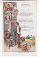 Chromo  ARTICLES EN CAOUTCHOUC BERGOUGNAN   Fable De La Fontaine   Le Laboureur Et Ses Enfants    Grand Format - Other