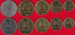 Tajikistan Set Of 5 Coins: 5 Diram - 1 Somoni 2011 UNC - Tajikistan