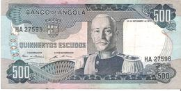 Angola - Pick 102 - 500 Escudos 1972 - VF - Angola