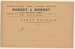 54 - NANCY : Carte Courrier Des Etb. BARDET & BORDET 2, Rue St-Nicolas - Nancy