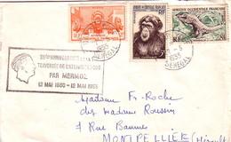 SENEGAL - DAKAR YOFF - LE 12-5-1955 - 25e ANNIVERSAIRE DE LA TRAVERSEE DE L'ATLANTIQUE SUD PAR MERMOZ LE 12-5-1930 - 12 - Senegal (1960-...)