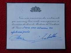 HENRI & ISABELLE D ORLEANS AUTOGRAPHE DECES DUCHESSE DE GUISE ARCHIVES MARCEL GUERIN - Autographes