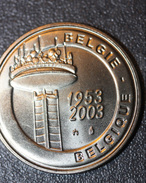 """Jeton 50 Ans RTBF """"Televisie - Télévision - 1953 - 2003""""  Television Token - Télévision Belge - Belgique - Professionnels / De Société"""