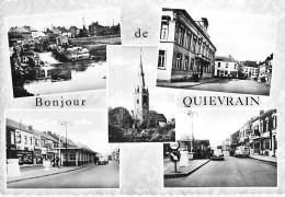 BELGIQUE ( Hainault ) QUIEVRAIN Jolie Multivues Dentelée - DOUANE FRONTIERE CPSM GF 1971 - Dogana Duana Aduana Zoll - Quiévrain