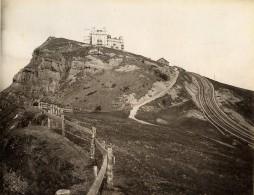 Suisse Hotel Rigi Kulm Alpes Bernoises Ancienne Photo Sommer 1890 - Photographs