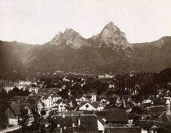 Suisse Brunnen Lac Des Quatre-Cantons Ancienne Photo Sommer 1890 - Photographs