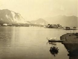 Suisse Lac Majeur Ile Des Pecheurs Isola Dei Pescatori Ancienne Photo Nessi 1890 - Photographs