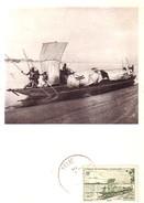 AOF - SOUDAN FRANCAIS - IONYL - CARTE MAXIMUM - SOUDAN - PIROGUE SUR LE NIGER. - Sudan (1954-...)