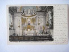 CPA DUNKERQUE Intérieur De Notre Dame Des Dunes T.B.E. 1903 Colorisée - Dunkerque